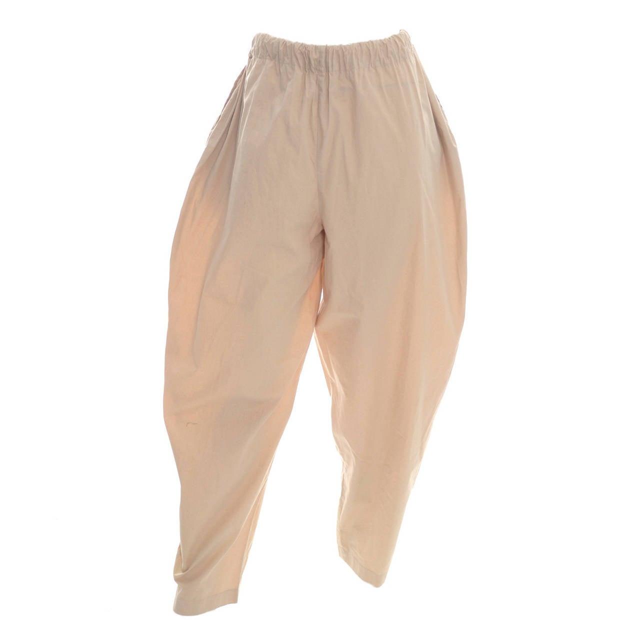1980s Patrick Kelly Paris Rare Vintage Harem Parachute Style Pants For Sale