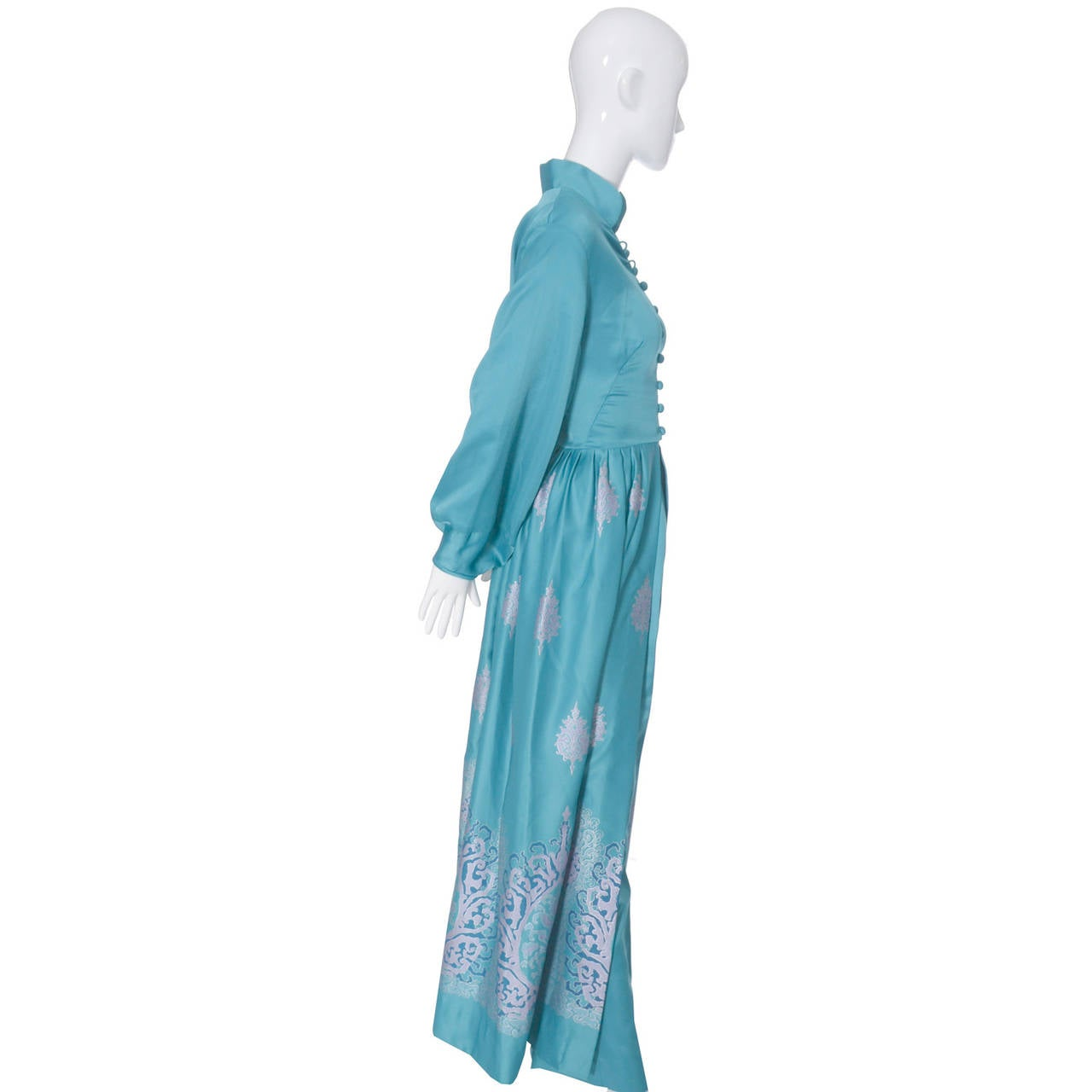 Alfred Shaheen Master Printer Vintage 2 Pc Pants Evening Coat Ensemble In New Condition For Sale In Portland, OR