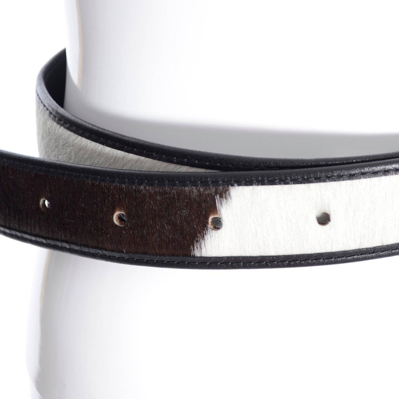 Vintage Belt Rei Kawakubo Comme Des Garcons Cow Hide Fur 3