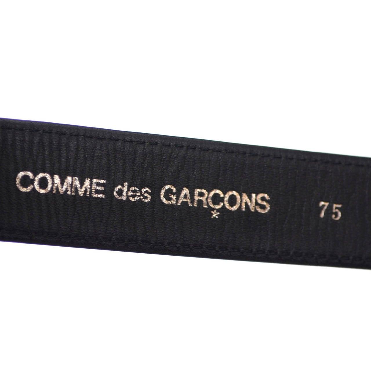 Vintage Belt Rei Kawakubo Comme Des Garcons Cow Hide Fur 7