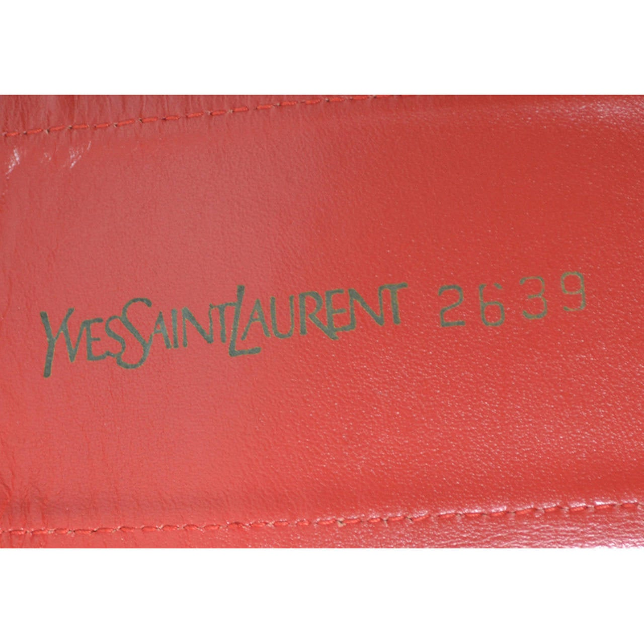 Yves Saint Laurent Vintage YSL Red Corset Belt Russian Peasant Collection 2