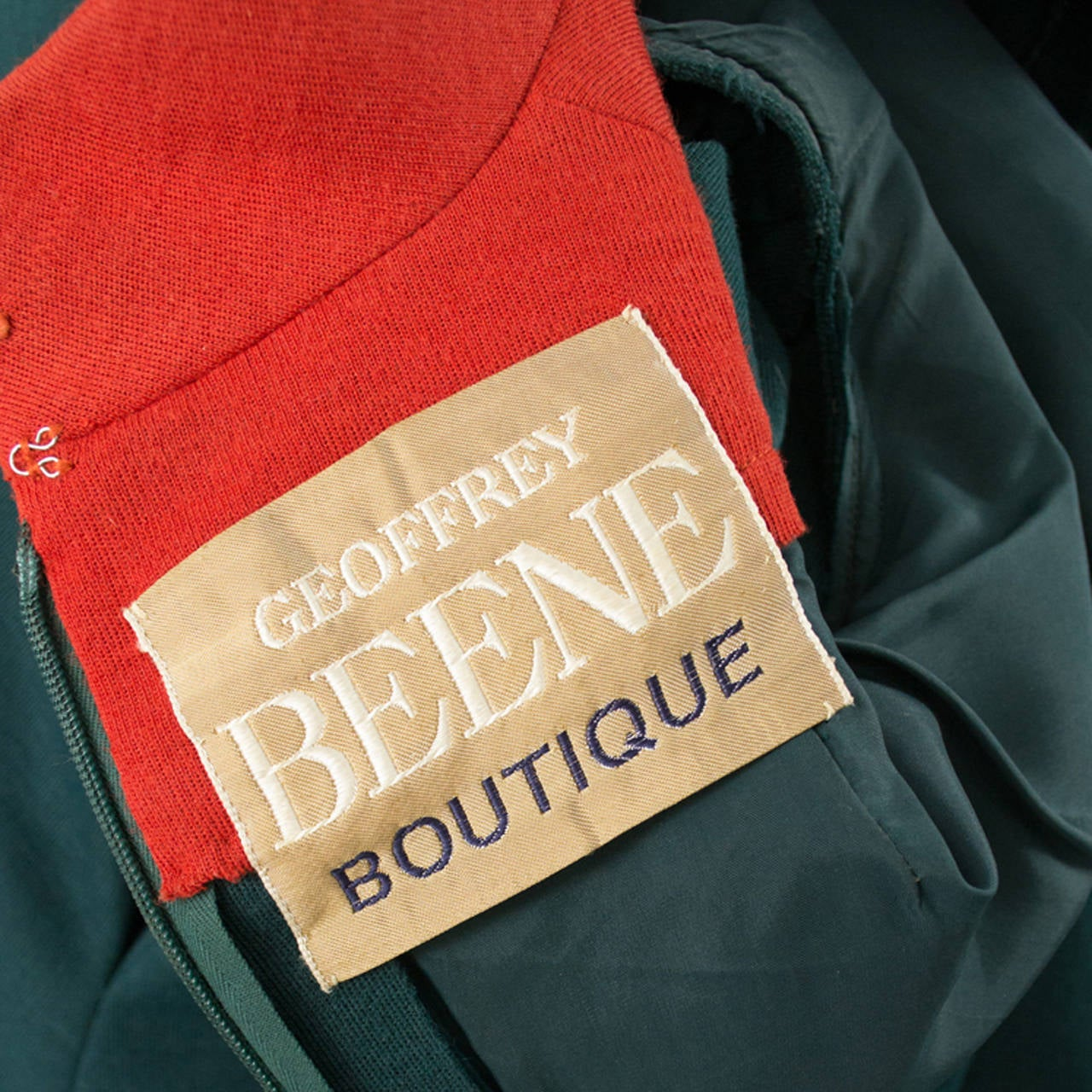 Geoffrey Beene Boutique Vintage Dress Red Green Early 1970s In Excellent Condition For Sale In Portland, OR