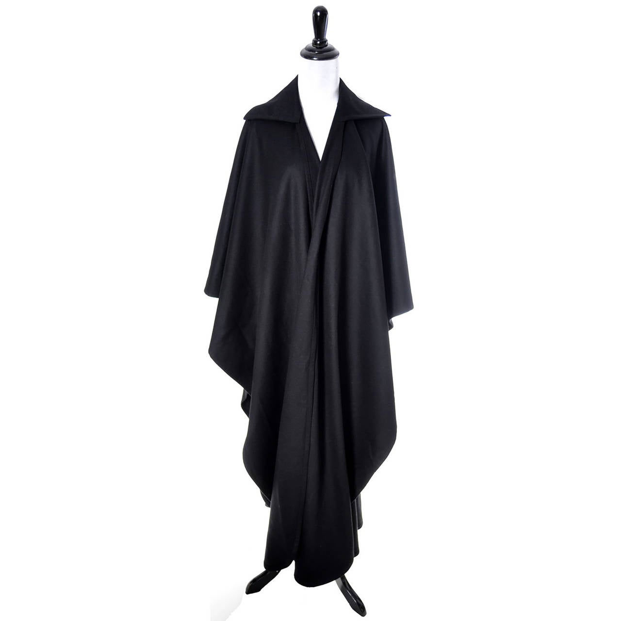 Givenchy Vintage Cape Wrap Wool Bergdorf Goodman New York 1970s 2
