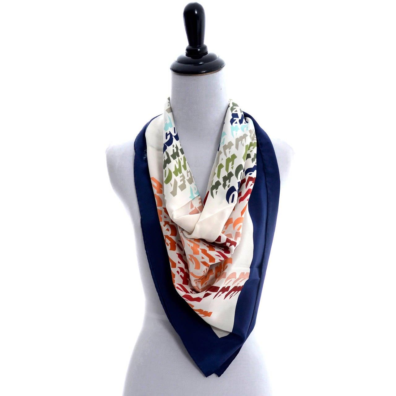 loewe vintage scarf silk places travel 2 scarves