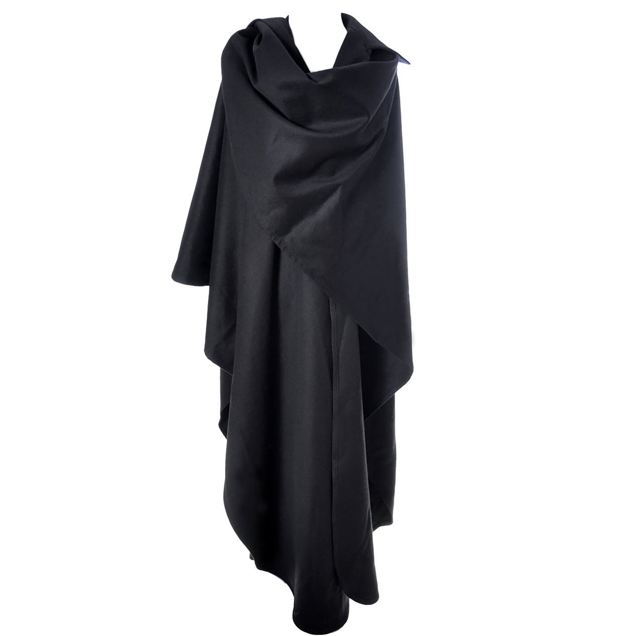 Givenchy Vintage Cape Wrap Wool Bergdorf Goodman New York 1970s 1