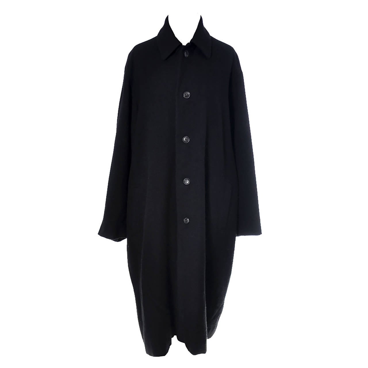 Yohji Yamamoto Ys Vintage Coat Black Wool Cocoon Japan For Sale