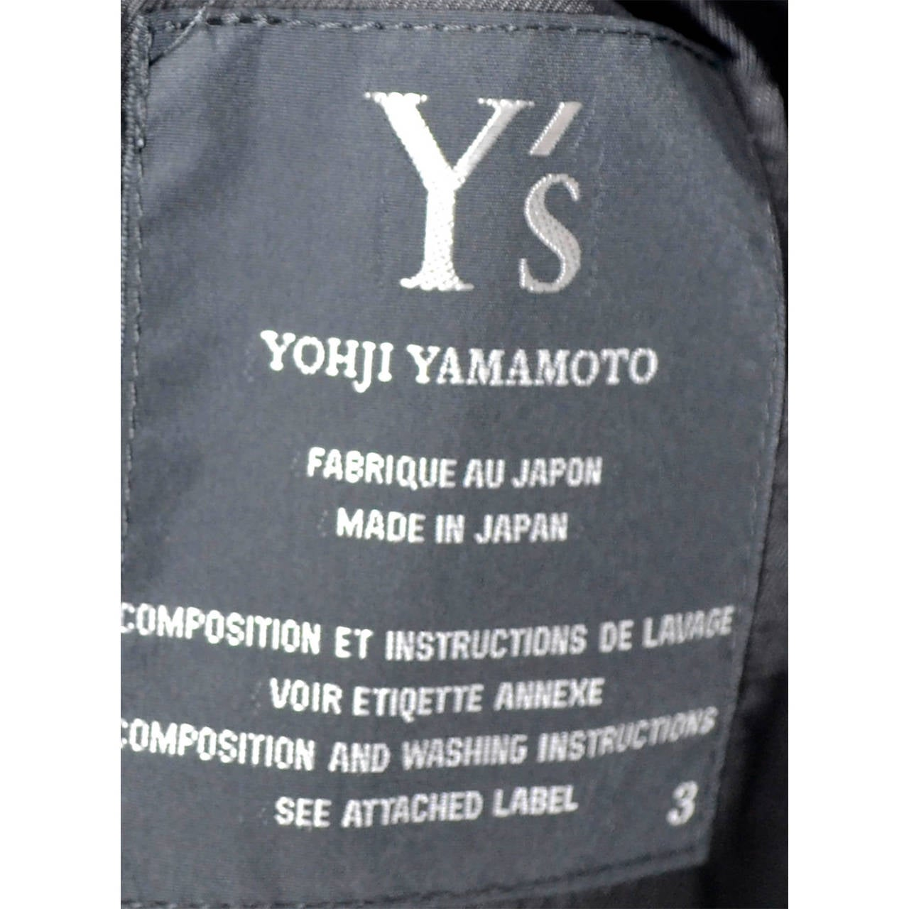 Yohji Yamamoto Ys Vintage Coat Black Wool Cocoon Japan In Excellent Condition For Sale In Portland, OR