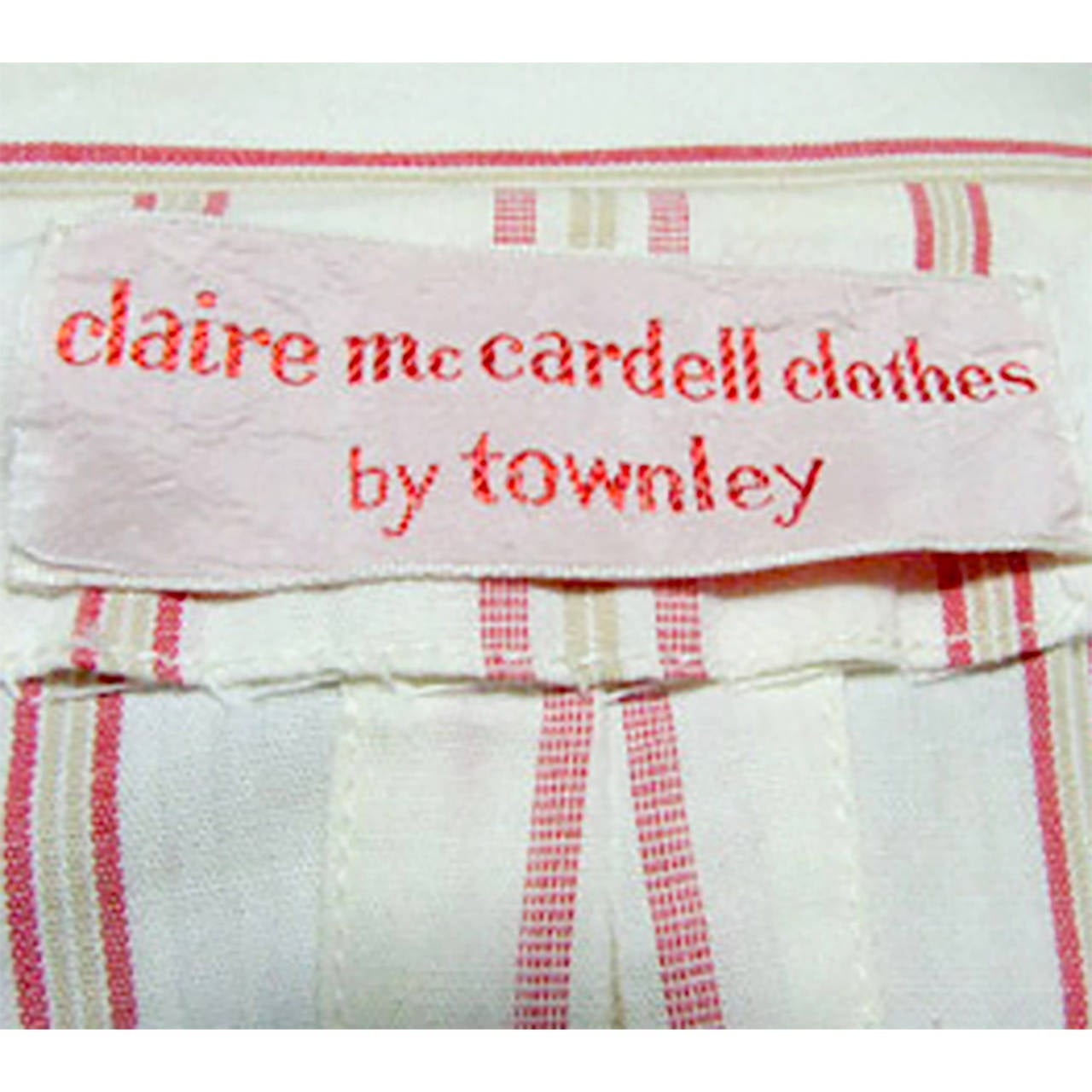 Rare 1940s Vintage Claire McCardell Dress Clothes by Townley Stripes 4