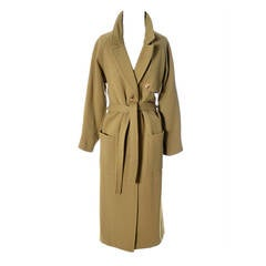 Anne Klein Donna Karan Design Vintage Trench Coat 1970s