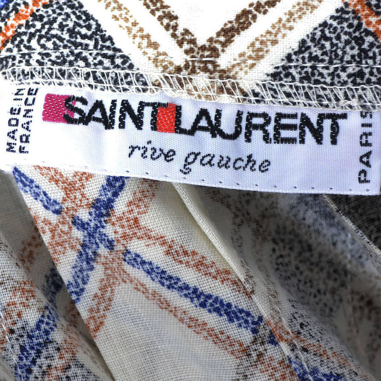 1970s YSL Vintage Yves Saint Laurent Rive Gauche 2 pc Dress Wrap Skirt & Blouse In Excellent Condition For Sale In Portland, OR