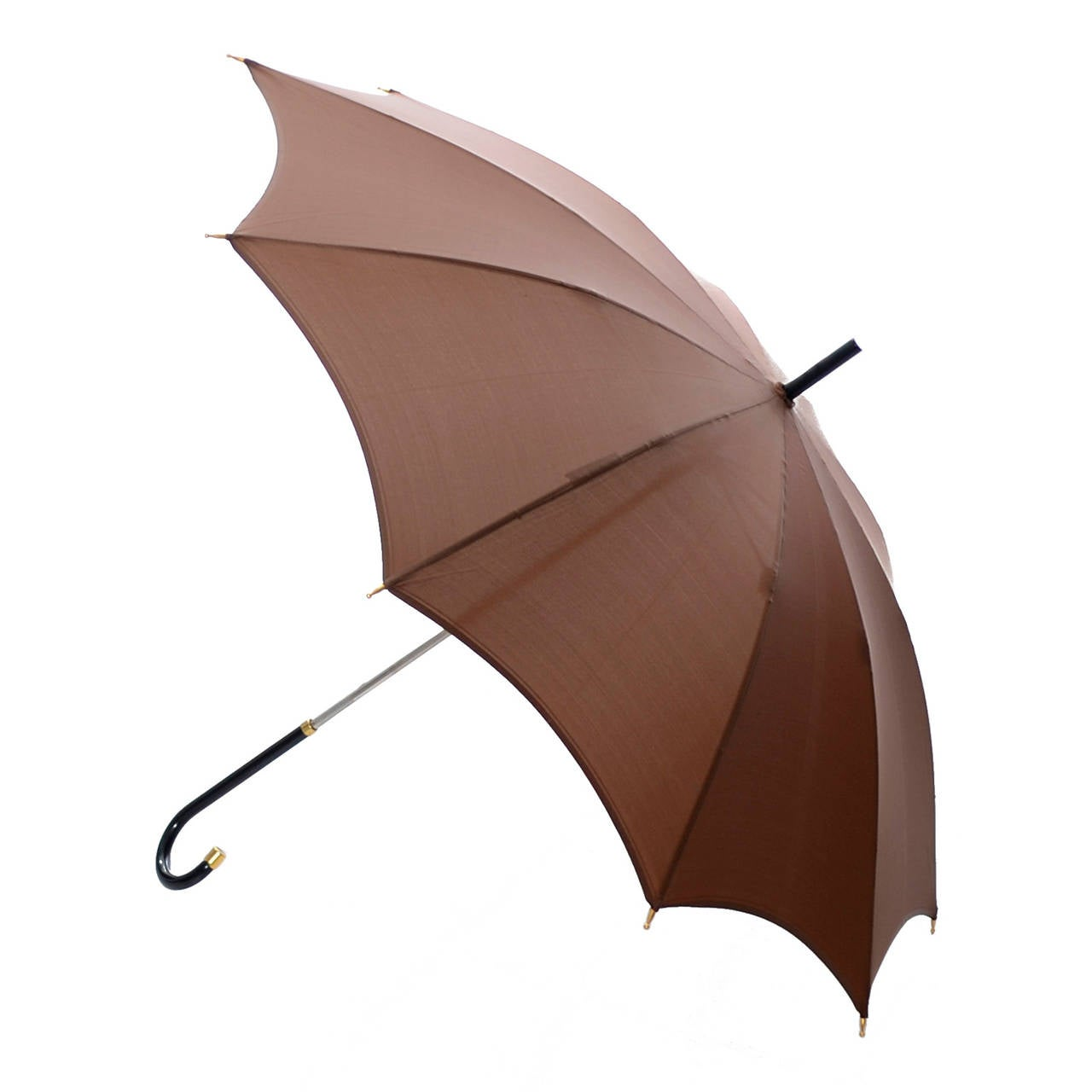 Dead Stock New Vintage Gucci Umbrella 1970s Brown Italy For Sale