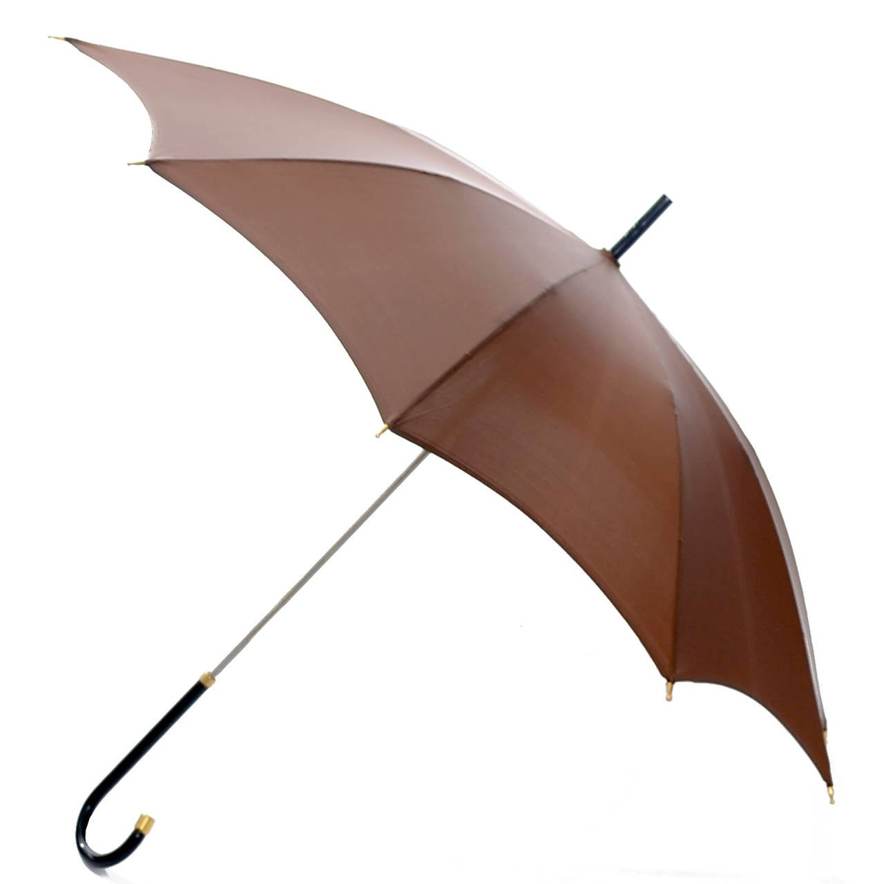 Dead Stock New Vintage Gucci Umbrella 1970s Brown Italy In New never worn Condition For Sale In Portland, OR