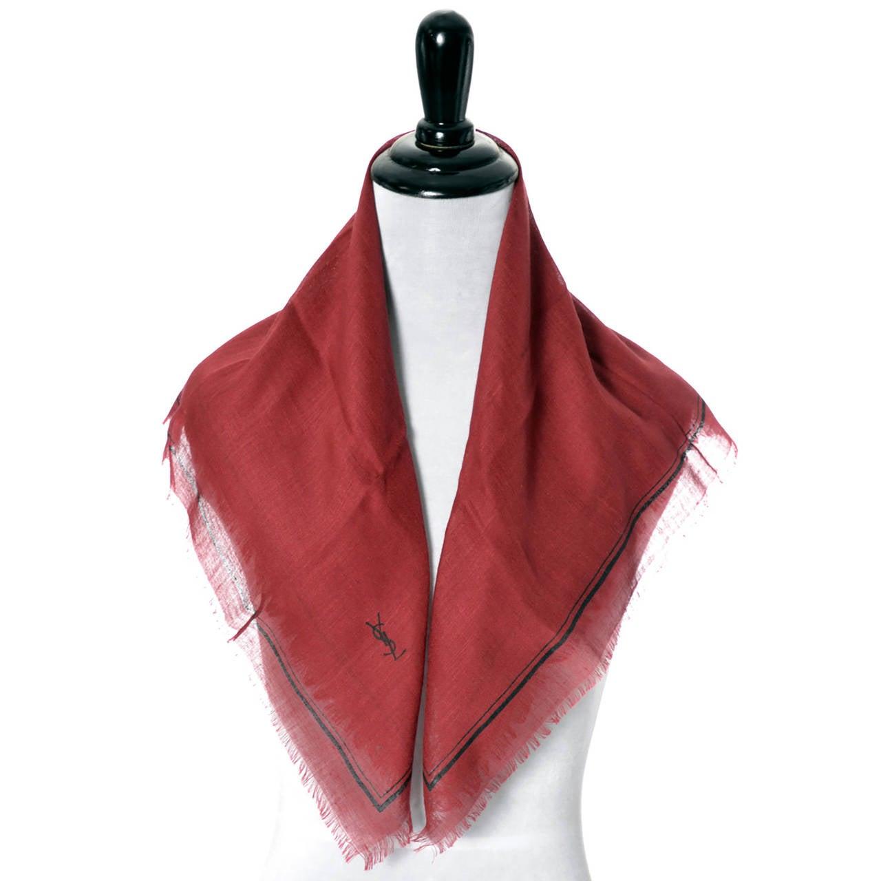 new yves laurent 2 vintage ysl silk scarves