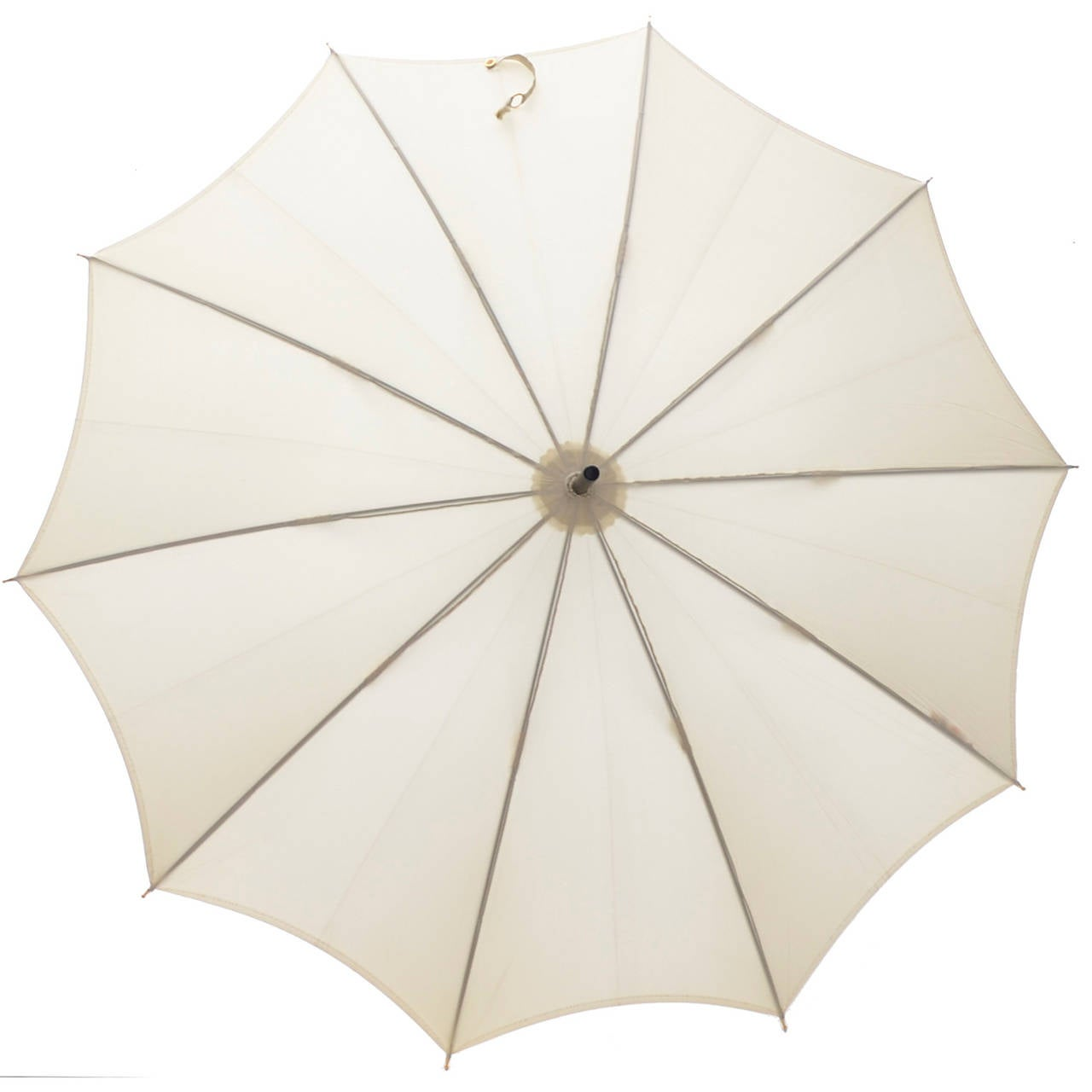 Gucci 1970s Vintage Umbrella Ivory Original Sleeve Italy 3