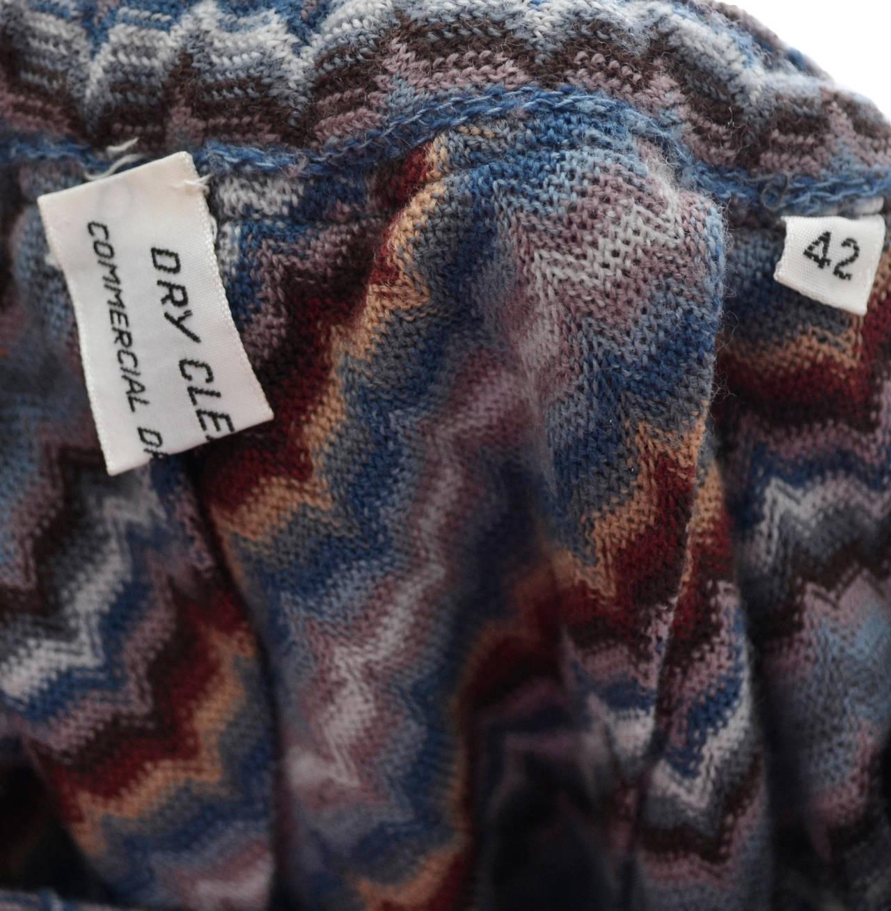 Missoni Italy vintage maxi skirt zig zag stripes 1970s 4
