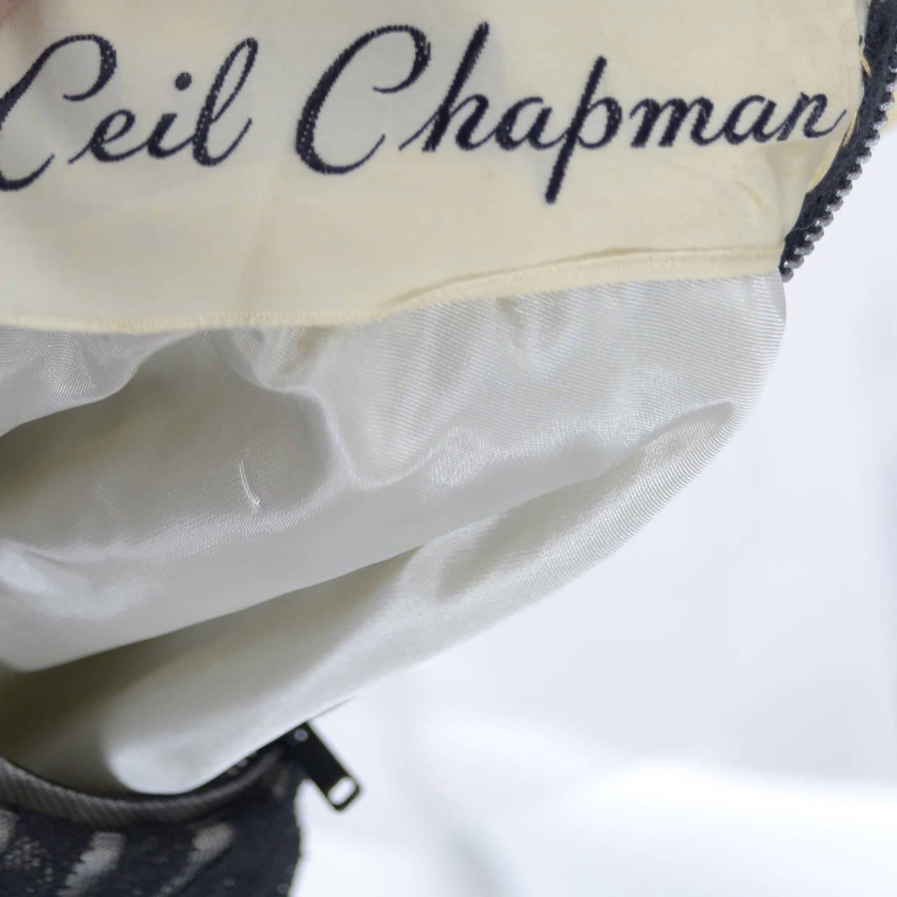 Ceil Chapman 1950s Vintage Dress Lace 50s Party Full Skirt 1950s  5