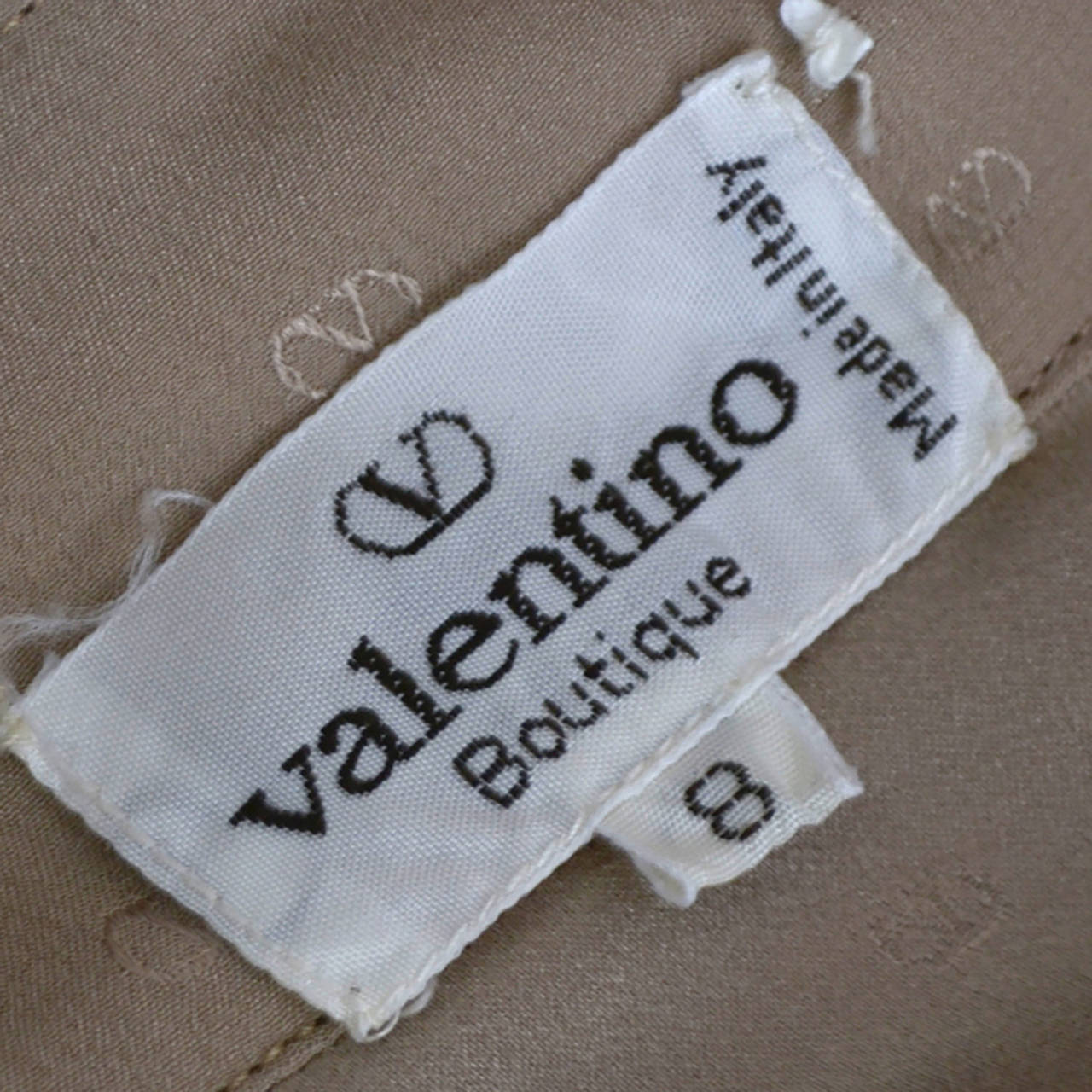 Gray Valentino Boutique Vintage Logo Blouse Silk 1970s Italy For Sale