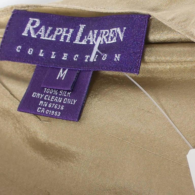 Ralph Lauren Collection Purple Label Gold Toga Dress New