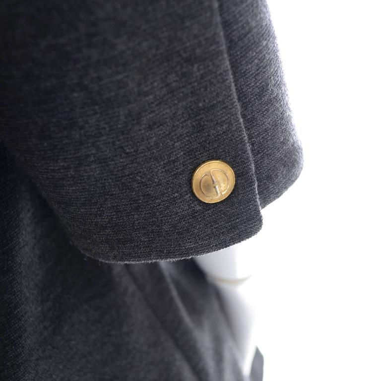 1990's Vintage Gucci Jacket Zip Front Wool Suede Size 42 Italy 3