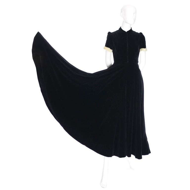 9aafed539b9 This is a 1943 vintage black velvet dress that was purchased at John Lewis   amp
