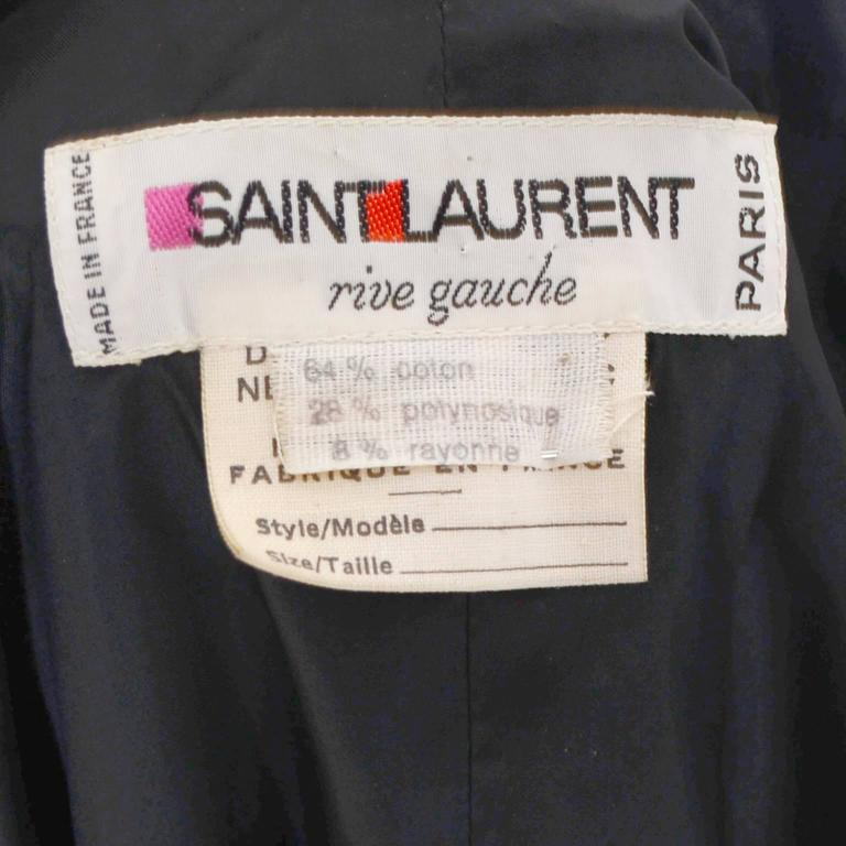 YSL Yves Saint Laurent Rive Gauche Vintage Opera Cape Hooded Black Velvet 9