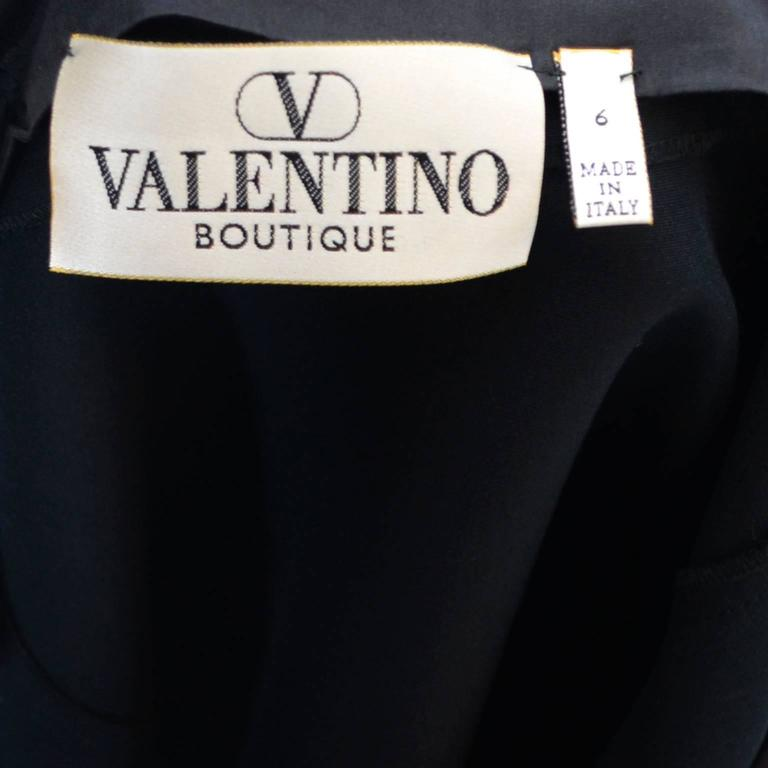 Vintage Valentino Boutique Evening Black Silk Skirt 1990s Pockets 5