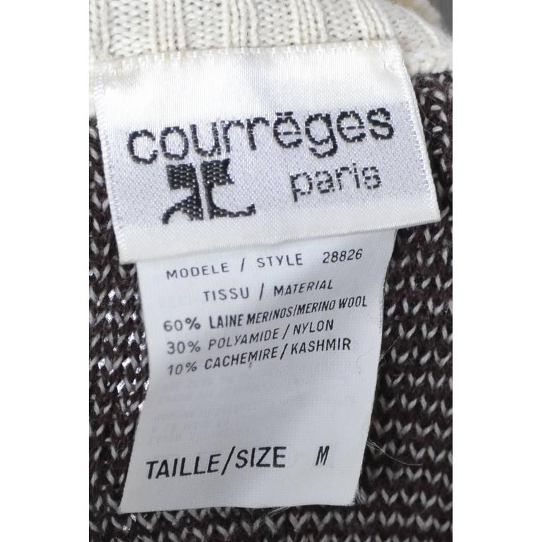Vintage Courreges Snowflake Sweater Wool Cashmere Blend Medium 2