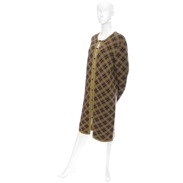 Brown Yves Saint Laurent YSL Deadstock Vintage Moroccan Inspired Caftan Size 42 Unisex For Sale