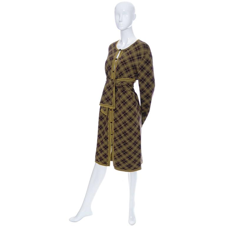 14f346f1484 This is a fabulous 1990's unisex Moroccan inspired vintage YSL dead stock  wool caftan in yellow