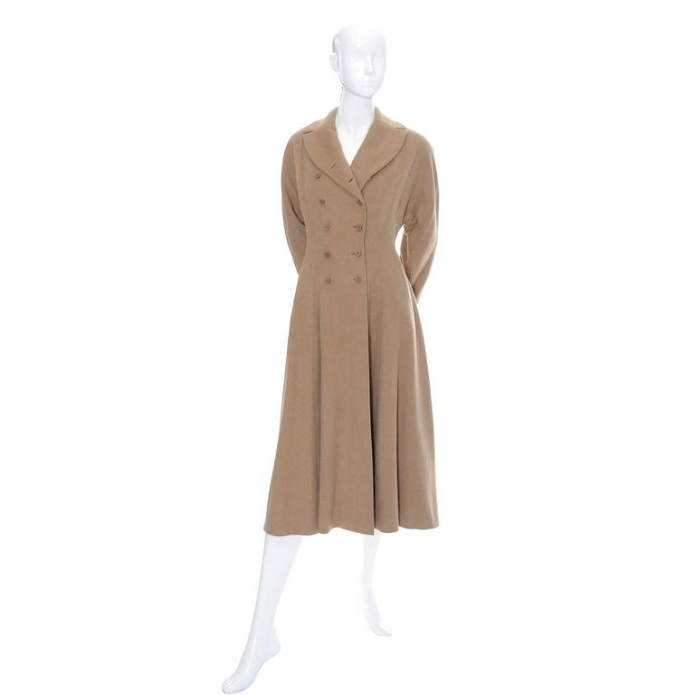 Vera Maxwell Vintage Coat Rare 1940's Double Breasted Cashmere  3