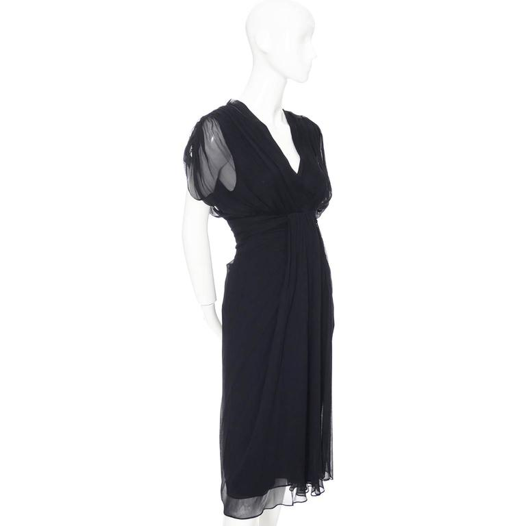 This Tull Navy Blue Silk Chiffon Evening Dress Is From Designer Diane Von Furstenberg