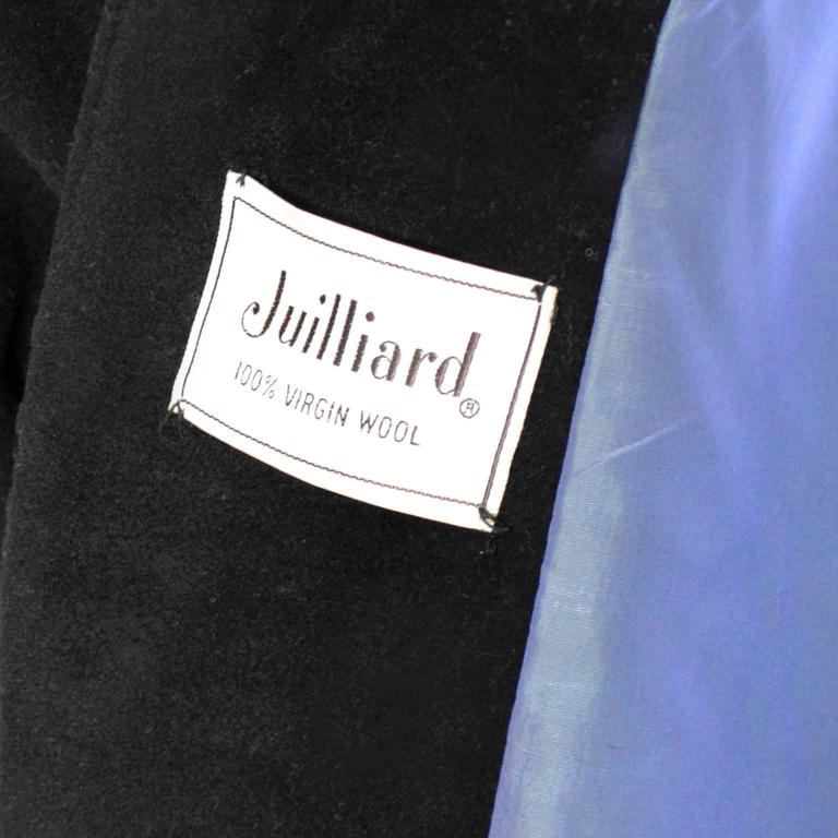 1940s Vintage Princess Coat Juilliard Virgin Wool Fit Flare Lined Rhinestones 7
