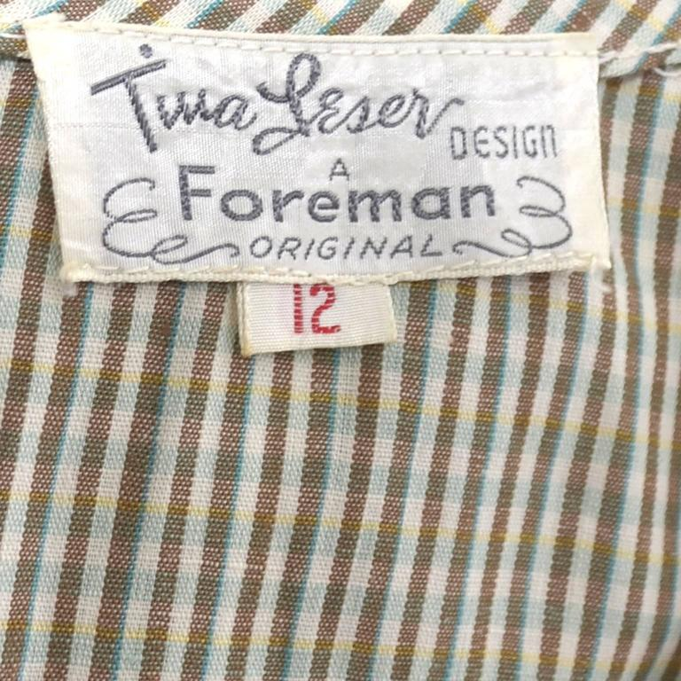 Tina Leser Early 1950's Vintage Dress Jacket 2 Pc Outfit Rare Foreman Label For Sale 1