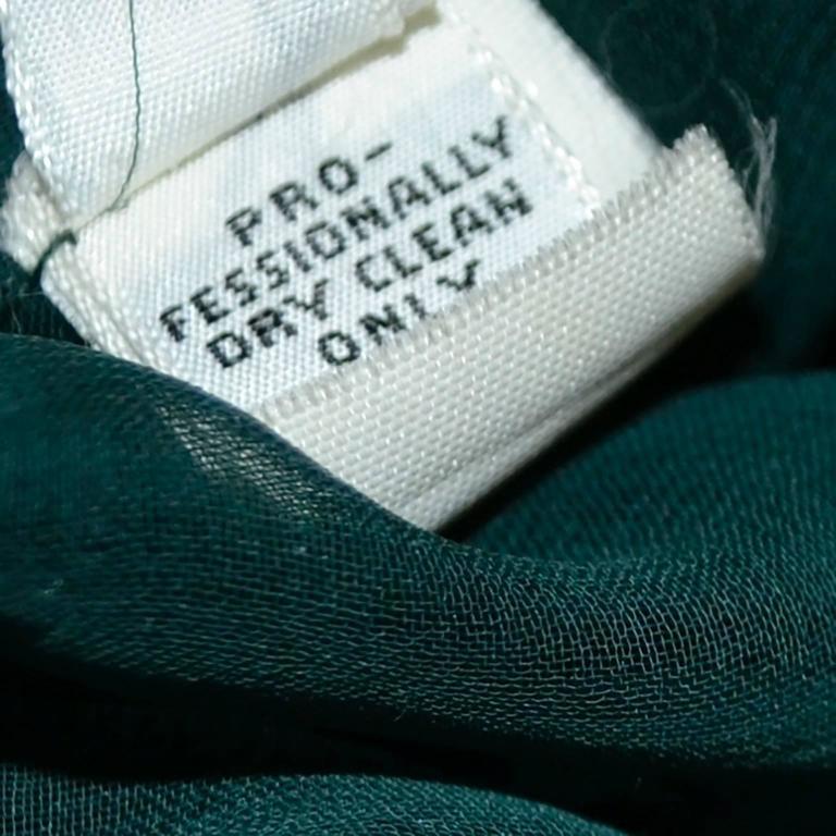 Oscar de la Renta Green Sequin Pants & Keyhole Poet Blouse Evening Outfit  For Sale 2