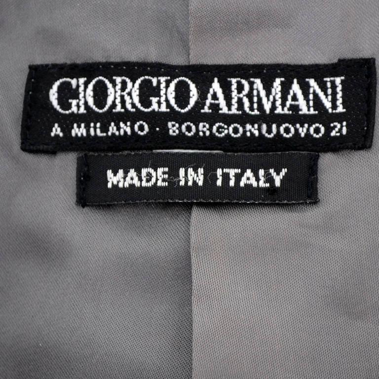 Women's Giorgio Armani Vintage Swing Coat Gray Cashmere Wool Angora Vestimenta Spa For Sale