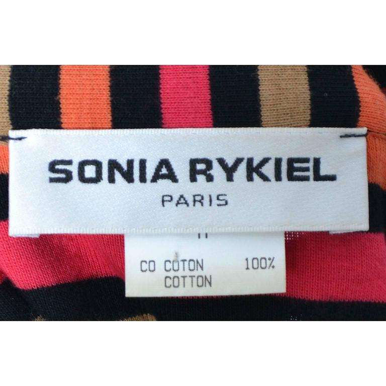 Vintage Sonia Rykiel 2 pc Cotton Top & 1/2 Sweater Rykiel Pop Rhinestones Medium For Sale 5