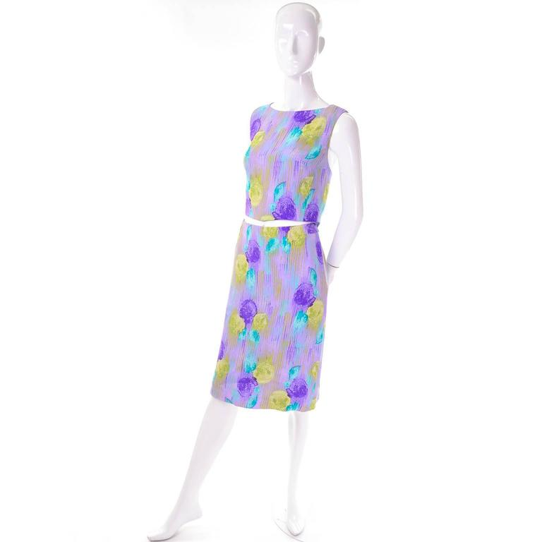 New Vintage 1990s Gianni Versace Silk 2 pc Dress Cropped Top Skirt With Tags 4