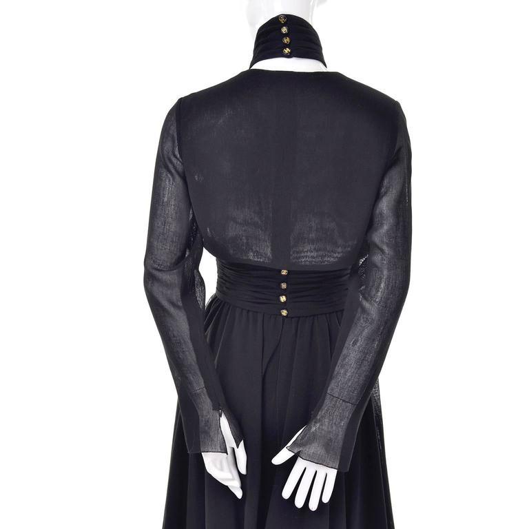Chanel Vintage Asymmetrical Halter Dress with Camellia Bolero Jacket, 1994 For Sale 2