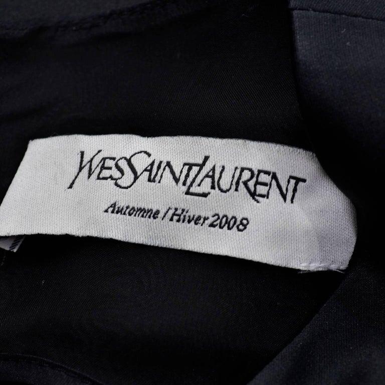 YSL Yves Saint Laurent Autumn Winter 2008 Documented Little Black Dress 2/4 For Sale 2