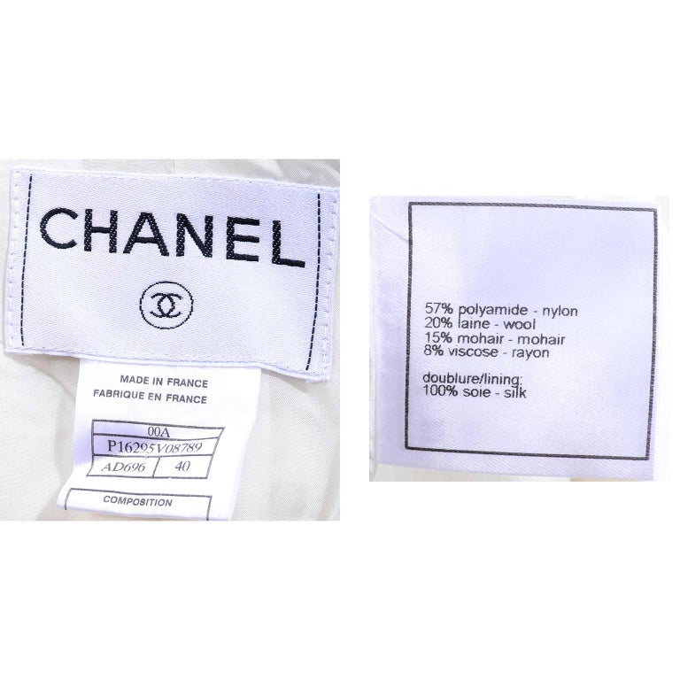 Chanel 2000 Documented White Tweed Coat Black Trim Kyoto Costume Institute 8/10 10