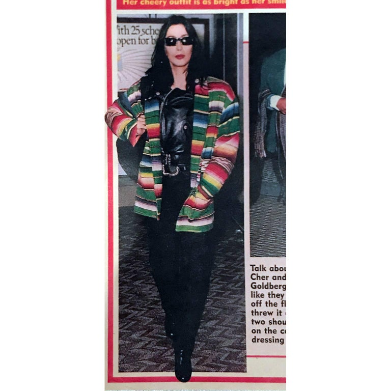 Green 1990 Cher Owned Mermaids Vintage Southwestern Coat by Chris O'Connell W Photo