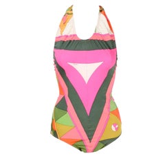 Vintage Pucci Swimsuit Signature Print Size Medium