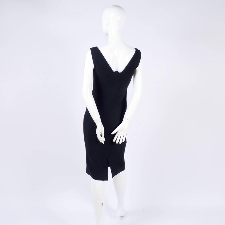 Dead Stock New W/ Tags Gianni Versace Couture Vintage Little Black Dress, 1995  For Sale 6