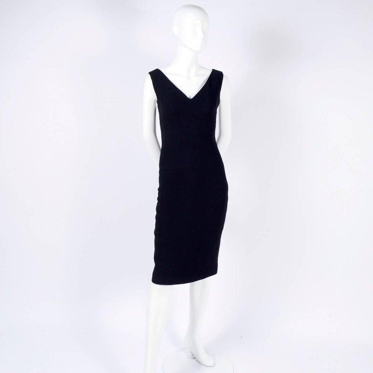 Dead Stock New W/ Tags Gianni Versace Couture Vintage Little Black Dress, 1995  For Sale 11