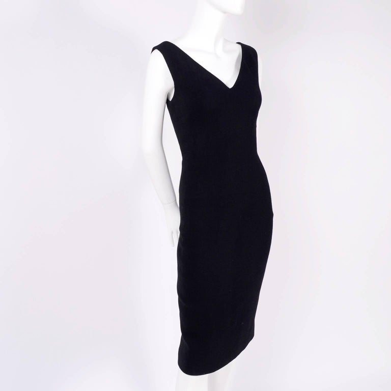 Women's Dead Stock New W/ Tags Gianni Versace Couture Vintage Little Black Dress, 1995  For Sale