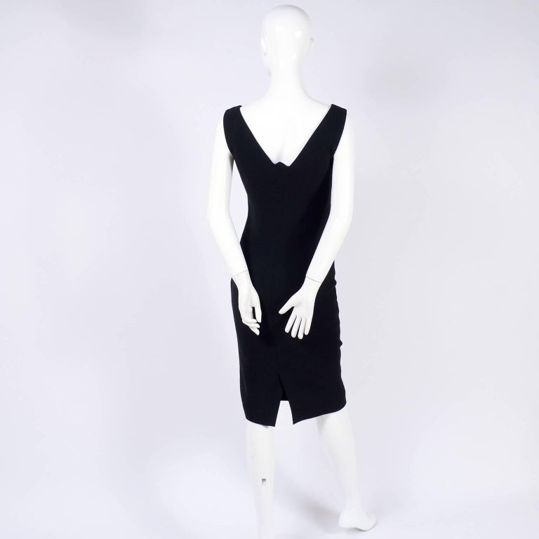 Dead Stock New W/ Tags Gianni Versace Couture Vintage Little Black Dress, 1995  For Sale 4