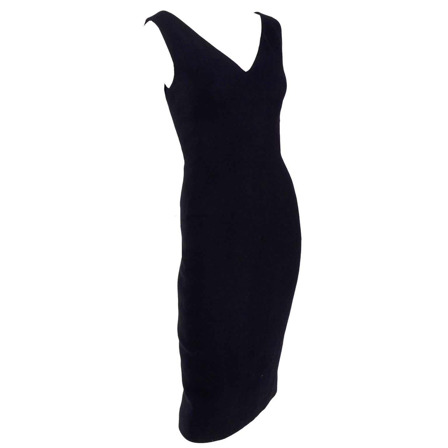 Dead Stock New W/ Tags Gianni Versace Couture Vintage Little Black Dress, 1995