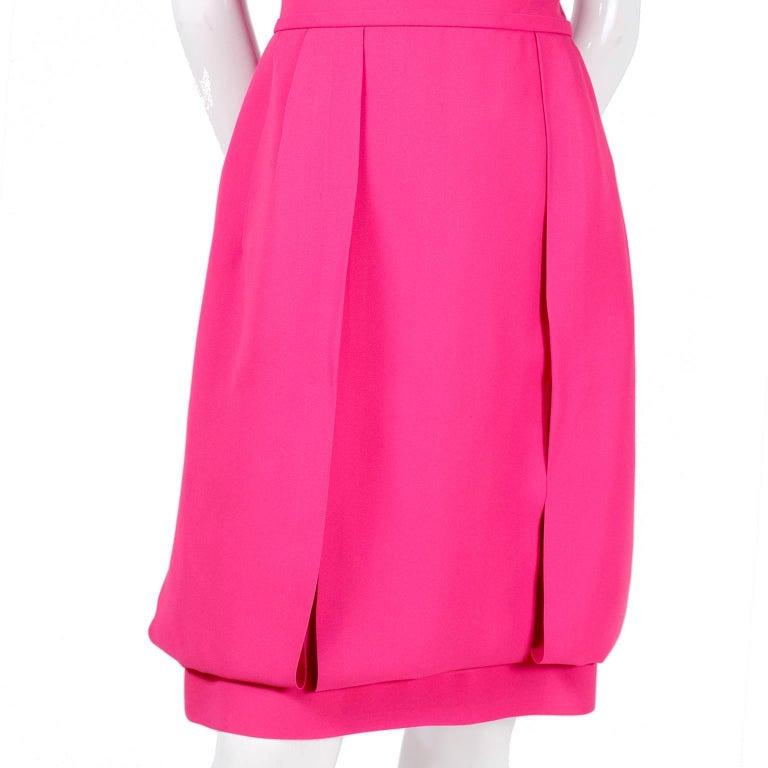 Saks Wedding Gowns: 1960s Saks Fifth Avenue Pink Silk Cocktail Or Wedding