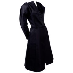 Vintage Black Geoffrey Beene Dress W/ Detailed Origami Folds & Styling