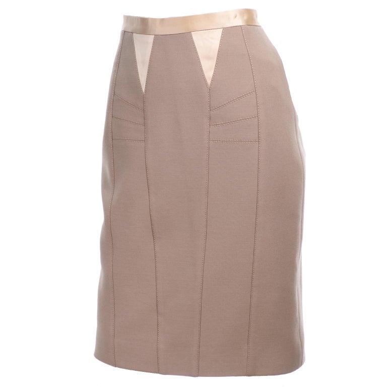 Dolce & Gabbana Pencil Skirt With Satin Trim and Cheetah Print Lining
